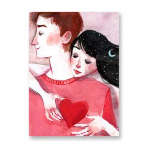 Forever Love, illustrazione di Ilaria Urbinati - card 13x18 cm