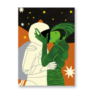 Baciami Forte #5, illustrazione di Sara Stefanini - card 13x18 cm