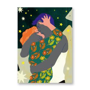 Baciami Forte #6, illustrazione di Sara Stefanini - card 13x18 cm