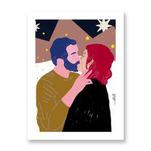 Baciami Forte #1, illustrazione di Sara Stefanini