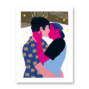 Baciami Forte #2, illustrazione di Sara Stefanini