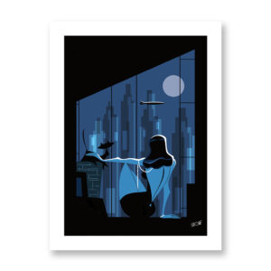 Window over Manhattan- Stampa su carta 21x30 o 30x40 cm. Illustrazione di Antonio Lapone.