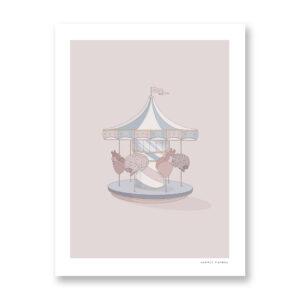 Giostra - illustrazione di Maniaco D'amore, Stampa Fine Art