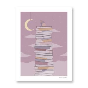 Heart Book - illustrazione di Maniaco D'amore, Stampa Fine Art