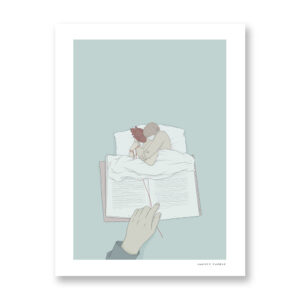 Sleeping Together - illustrazione di Maniaco D'amore, Stampa Fine Art