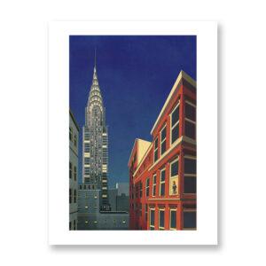 Chrysler Building - illustrazione di Giordano Poloni, Stampa Fine Art