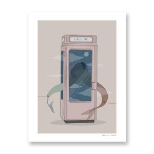 Call Me - illustrazione di Maniaco D'amore, Stampa Fine Art