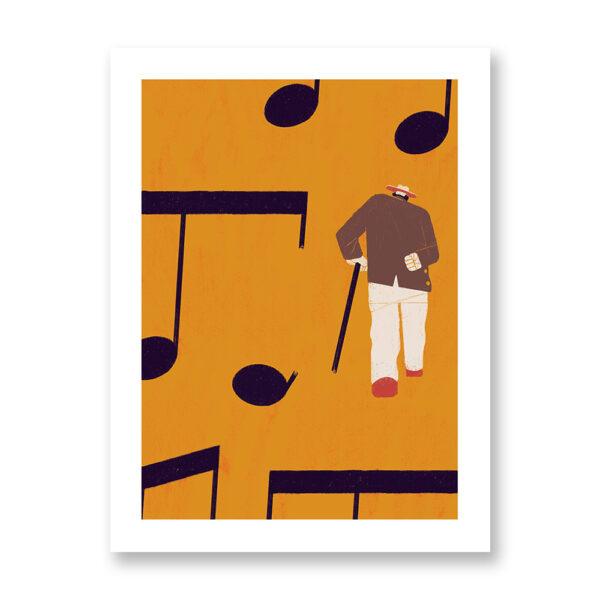 Norwegian blues - illustrazione di Chiara Ghigliazza, Stampa Fine Art