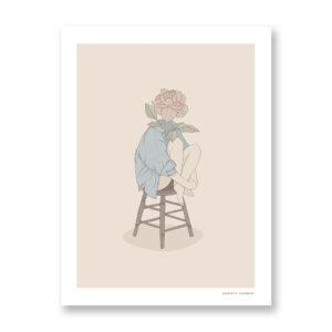 Rose - illustrazione di Maniaco D'amore, Stampa Fine Art