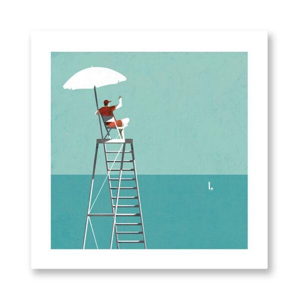 Hey - illustrazione di Chiara Ghigliazza, Stampa Fine Art