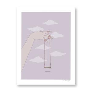 Swing - illustrazione di Maniaco D'amore, Stampa Fine Art