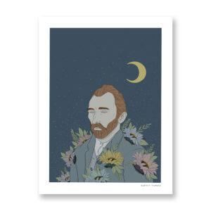 Vincent - illustrazione di Maniaco D'amore, Stampa Fine Art