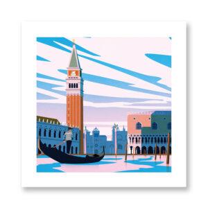 Venice - illustrazione di Giordano Poloni, Stampa Fine Art