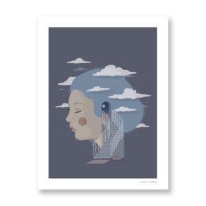 Welcome To My Mind - illustrazione di Maniaco D'amore, Stampa Fine Art