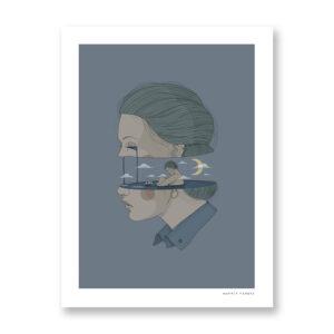 Cry Me - illustrazione di Maniaco D'amore, Stampa Fine Art