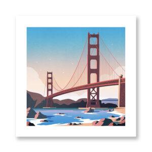 San Francisco - illustrazione di Giordano Poloni, Stampa Fine Art