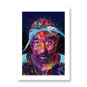 Tupac - illustrazione di Kaneda, Stampa Fine Art