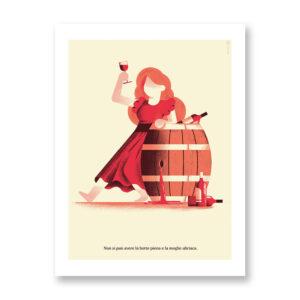 La Botte Piena… - illustrazione di Daniele Simonelli, Stampa Fine Art