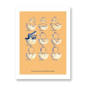 Don't Count Your Chickens - illustrazione di Daniele Simonelli, Stampa Fine Art