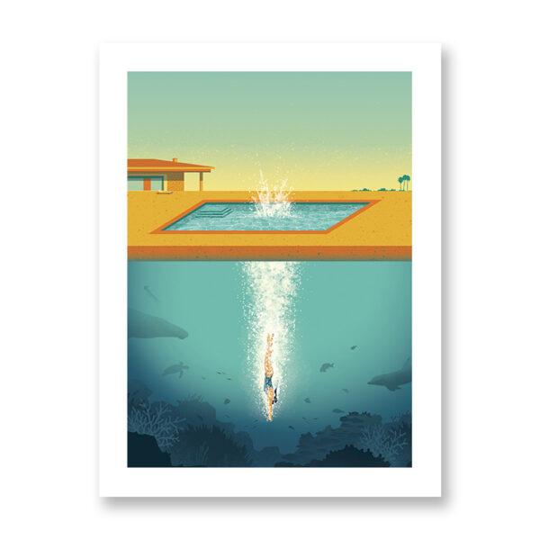 Beneath The Surface - illustrazione di Davide Bonazzi, Stampa Fine Art