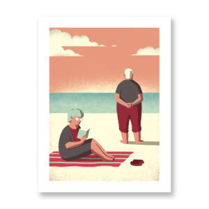 Daytrippers 9 - illustrazione di Davide Bonazzi, Stampa Fine Art