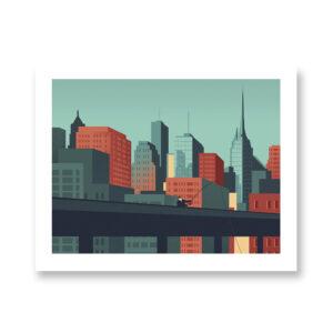 Urban Wildlife / Swordfish- illustrazione di Davide Bonazzi, Stampa Fine Art