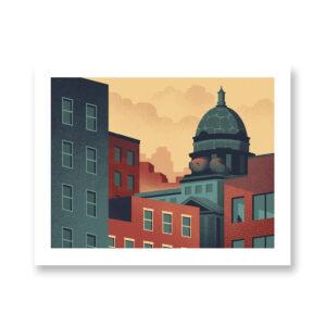 Urban Wildlife / Turtle - illustrazione di Davide Bonazzi, Stampa Fine Art
