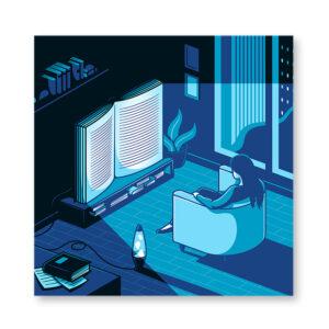 Healthy entertainment - illustrazione di Elia Colombo, Stampa Fine Art