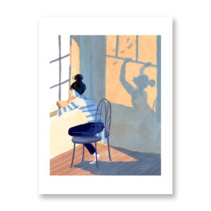 L'ombra - illustrazione di Ilaria Urbinati, Stampa Fine Art