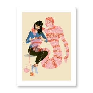 Knitterlover - illustrazione di Ilaria Urbinati, Stampa Fine Art