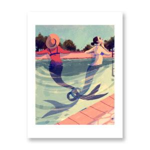 Sirene - illustrazione di Ilaria Urbinati, Stampa Fine Art
