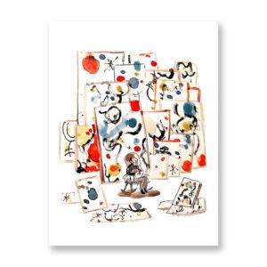 Il Sogno Di Mirò - illustrazione di Ilaria Urbinati, Stampa Fine Art