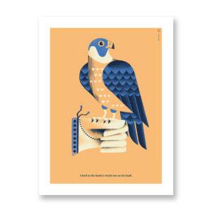 A bird in the hand... - illustrazione di Daniele Simonelli, Stampa Fine Art