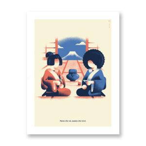 Paese che vai… è un'illustrazione/poster di Daniele Simonelli per arredare casa. Realizzata su carta pregiata con stampa di qualità.