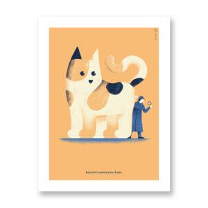 Buscarle la quinta pata al gato - illustrazione di Daniele Simonelli, Stampa Fine Art