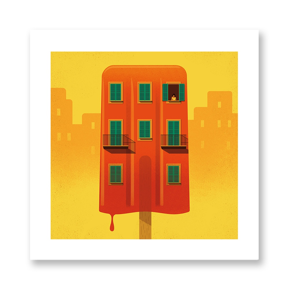 davide-bonazzi-poster-fine-art-print-stampa-home-illustrazione-illustration-gift-casa-regalo-agosto-august-internazionale-palazzo-paace-ghiacciolo-icicle-estate-summer
