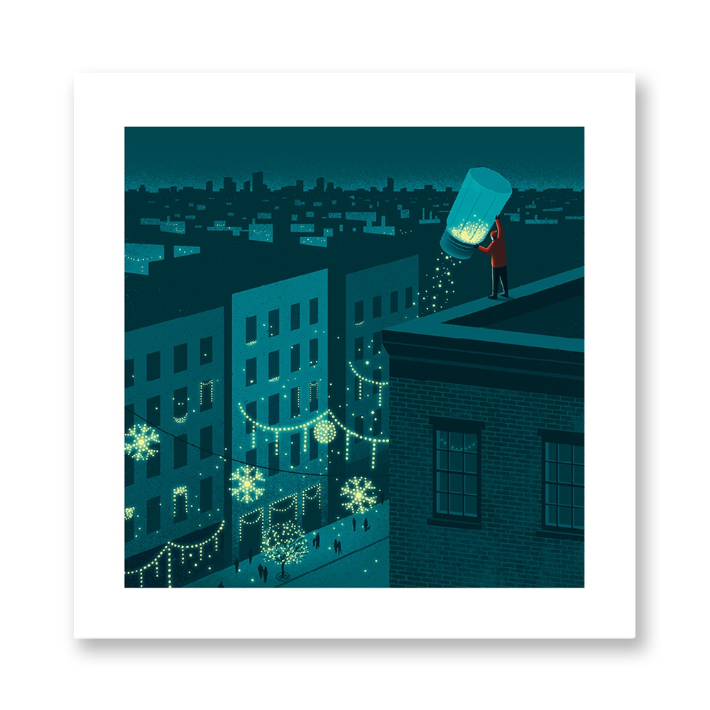 davide-bonazzi-poster-fine-art-print-stampa-home-illustrazione-illustration-gift-casa-regalo-dicembre-december-internazionale-natale-christmas-xmas-lights-luci