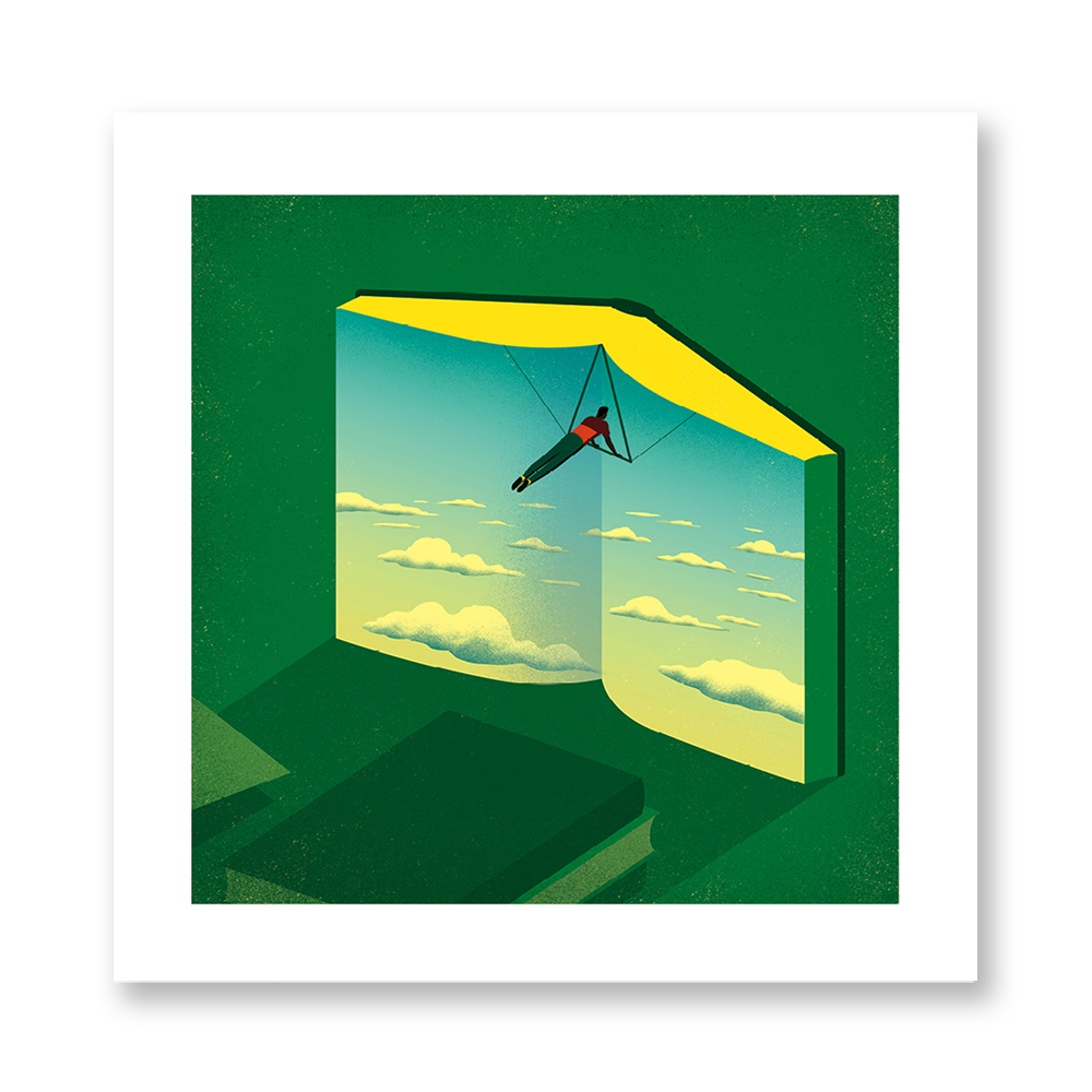 davide-bonazzi-poster-fine-art-print-stampa-home-illustrazione-illustration-gift-casa-regalo-giugno-june-internazionale-libro-book-cielo-sky-volare-flying