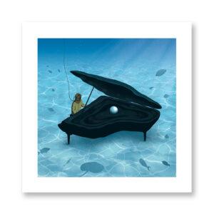 Songs under the sea - illustrazione di Davide Bonazzi, Stampa Fine Art