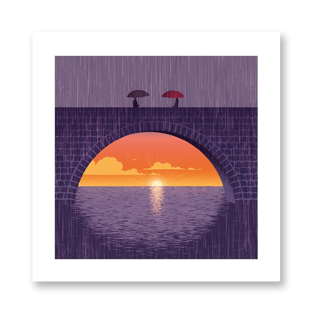 davide-bonazzi-poster-fine-art-print-stampa-home-illustrazione-illustration-gift-casa-regalo-novembre-november-internazionale-pioggia-rain-ponte-bridge