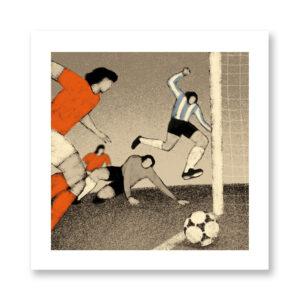 History of Football: Argentina, 1978 - illustrazione di Davide Bonazzi, Stampa Fine Art