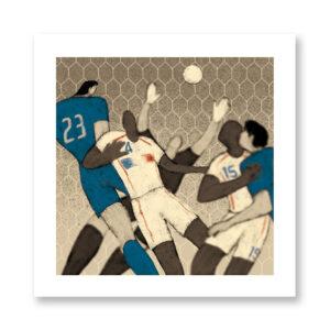 History of Football: Germany, 2006 - illustrazione di Davide Bonazzi, Stampa Fine Art