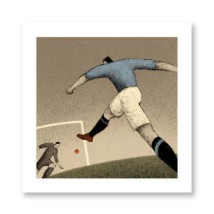 History of Football: Italy, 1934 - illustrazione di Davide Bonazzi, Stampa Fine Art