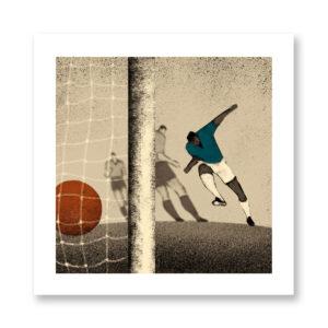 History of Football: Sweden, 1958 - illustrazione di Davide Bonazzi, Stampa Fine Art