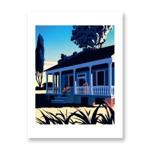 Alabama Blues - illustrazione di Giordano Poloni, Stampa Fine Art