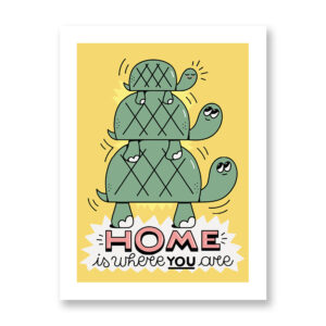 Home Is Where You Are - illustration by Daniele Morganti, Fine Art Print