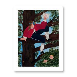 Il Barone Rampante - illustrazione di Gioia Ghezzo, Stampa Fine Art