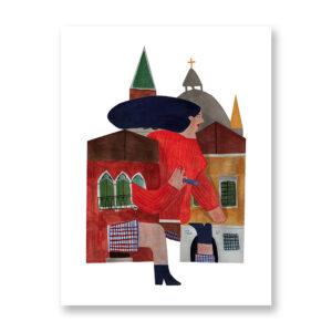 Tra Le Calli - illustrazione di Gioia Ghezzo, Stampa Fine Art