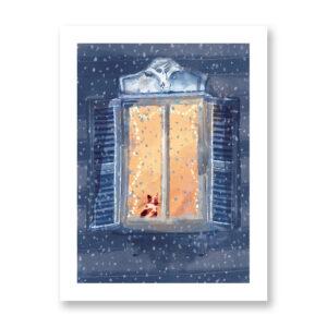 Let it snow - illustrazione di Ilaria Urbinati, Stampa Fine Art