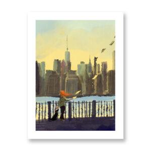 Letters from New York - illustrazione di Ilaria Urbinati, Stampa Fine Art